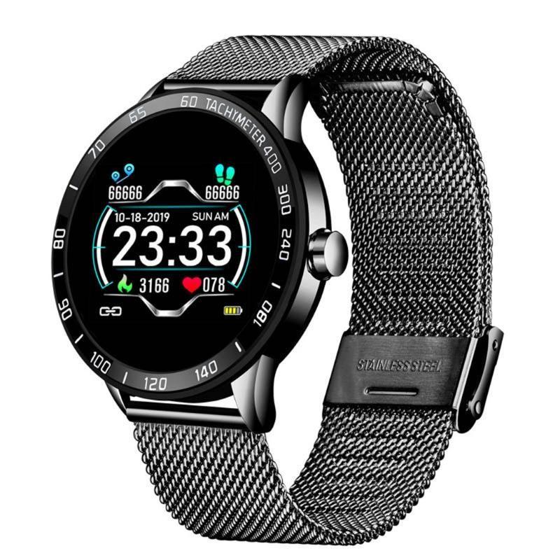 Stile Multifunktions-Smart-Uhr-Lige OLED-Farbbildschirm-Herzfrequenz Blutdruck Sport Smartwatch Herren Uhr Uhren