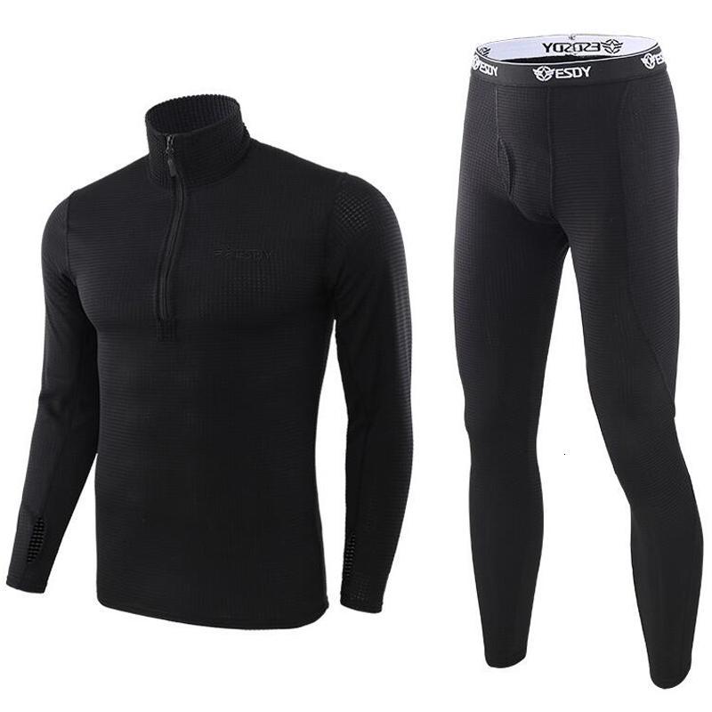 Fleece de invierno Térmico de secado rápido de Rapido para hombre Ropa térmica cálida Tradera transpirable Pantalón de pantalón de ropa interior transpirable