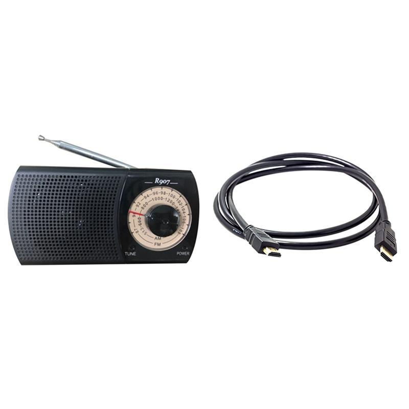 Radio AM / FM, Pocket con cavo Jack per cuffie V2.0 3D 1080P Ethernet 4K Video 60HZ-HDTV LCD LED radio