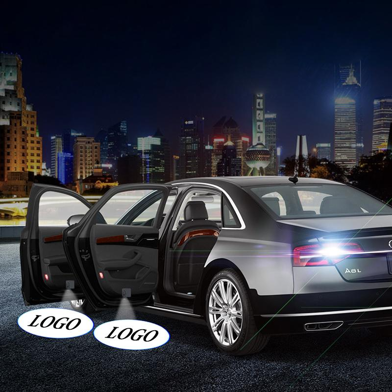 Gölge Işık Projektör Araba Kapı Hoşgeldiniz Işık Kablosuz LED Lazer Logosu Ghost Lamba 2 adet / takım