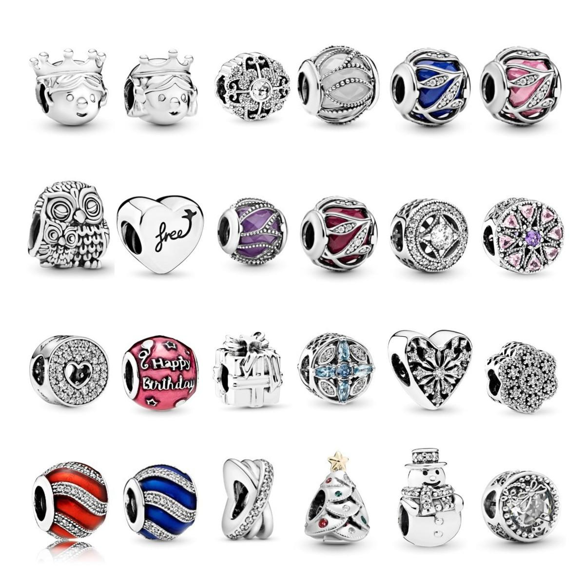 Charms 925 Sterling Silver Bracelets & Necklaces Heart Charm Red Pendant Beads Fit Original Pandora for Women