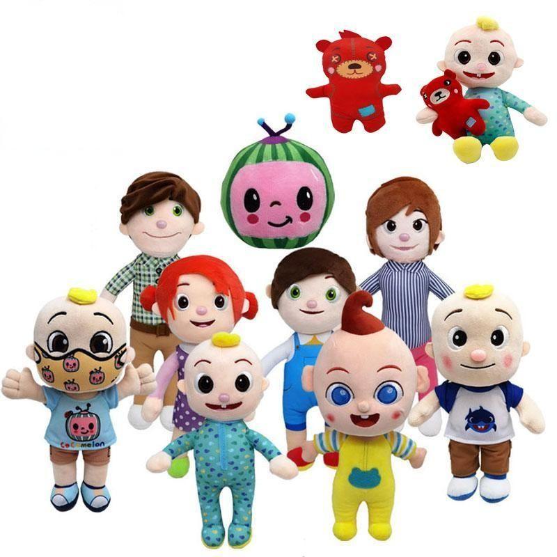 미국 주식 15-33cm Cocomelon 플러시 장난감 소프트 만화 가족 JJ 가족 여동생 형제 엄마와 아빠 장난감 Dall 키즈 Chritmas 선물