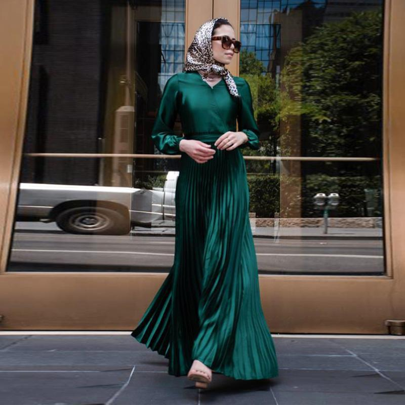 Ethnic Clothing Eid Mubarak Kaftan Moroccan Dubai Abaya Arabic Muslim Dress Turkey Abayas For Women Robe Satin Longue Femme Vestidos Dresses