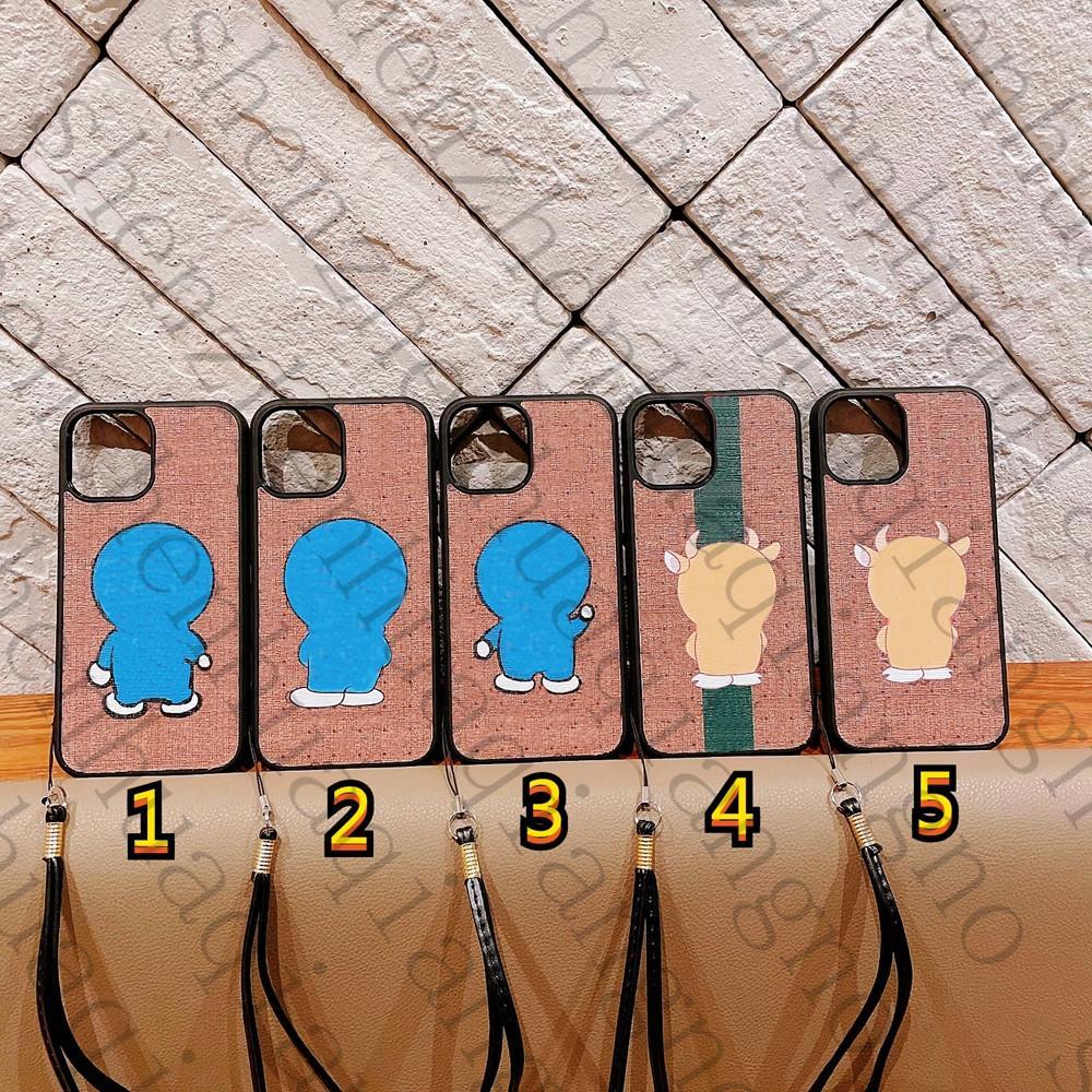Cas de téléphone de la mode pour iPhone 13 12 Mini 11 PRO X XR XS MAX 7 8 Plus couverture créative de luxe avec bracelet