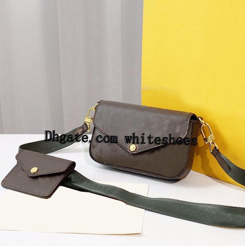 Mulheres Luxurys Designers Bolsas 2021 Caixa Original Código de Data Bolsas bolsas bolsa carteira de embreagem ombro messenger transversal Multi Pochette 80991