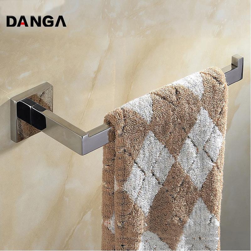 Полотенце стойки квадратная стойка 304 кольцо из нержавеющей стали ванная комната бара с фиксированным держателем ванны Однослойный настенный настенный