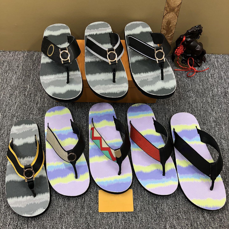 Luxurys Flip flops Slipper Men Summer Fashion Designer Slips piatti Pantofole di lusso Sandali da donna antiscivolo di alta qualità Sandali da donna Silly Mens con scatola taglia 38-45