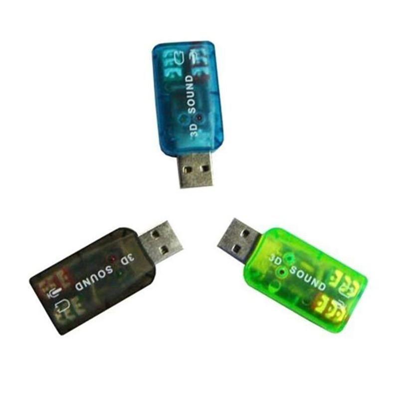 Мини Внешние USB Звуковые карты 5.1 Канал Адаптер аудиокарты 3.5 мм Динамик Микрофона Интерфейс наушников для компьютера ПК
