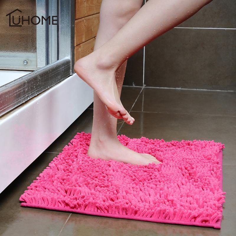 Alfombrillas de baño 40x60 cm Soft Chenille Floor Mat decoración para el hogar Alfombras para la sala de estar Aseo Alfombra de baño Dormitorio Sofá Sofá Mesa de centro Alfombras