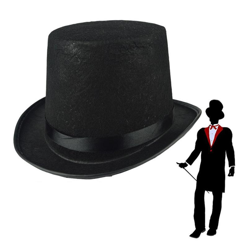 Sombreros Mago Cosplay Costume Boy Girl Capa Hechicero Long Magic Wand Bowler Hat Outfit Halloween Party Dress Up Misterioso negro Zjtl0065