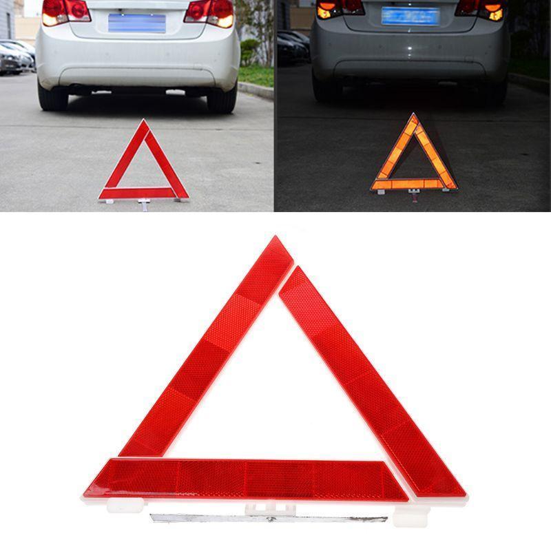 Auto-Truck-Notfall-Throndown-Dreieck Reflektierende Sicherheitsgefährdungsgefahr Rot Warnzeichen Ampel
