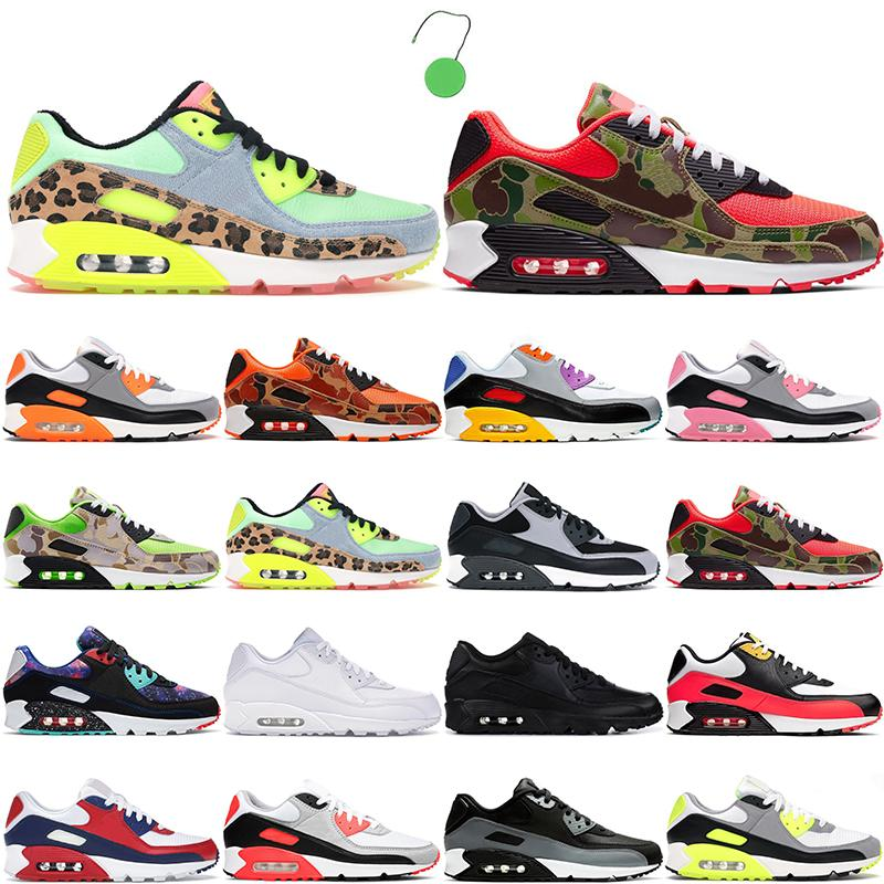 2021 Moda 90 Menshoes Runing Sapatos Mulheres Esportes Sneakers 90s Essential Hyper Grape DanceFloorrecraft Royal Green Green Blue Fury Branco Running Mens Trianers 36-45