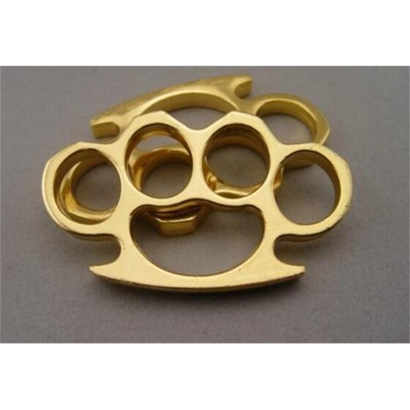 Good Brass Brand New Steel Knuckles Knuckle Duster Self Defense Protective Gear