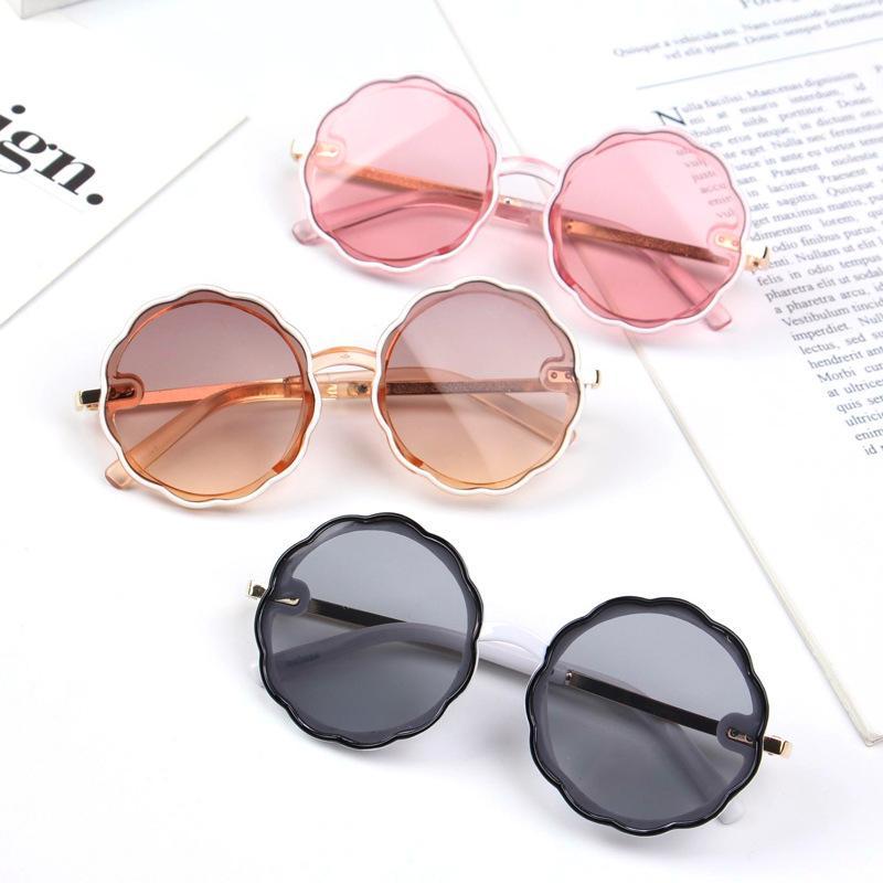 Бесплатные DHL для мальчиков девочек милый сладкий цветок формы солнцезащитные очки для детей старинные солнцезащитные очки дети UV400 защита моды классический пляж на открытом воздухе очки