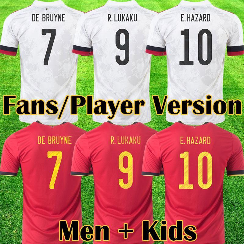 2021 벨기에 축구 유니폼 드 Bruyne Lukaku 20 22 축구 셔츠 위험 Batshuayi Camiseta Futbol Kompany Dembele Maillot