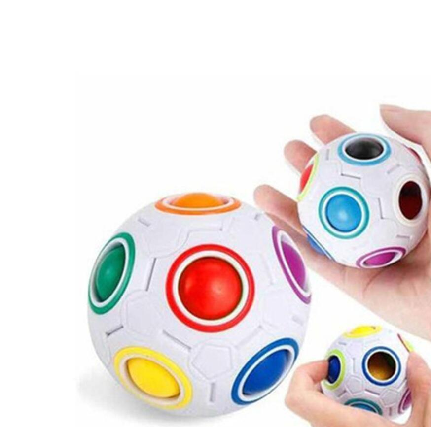Boys Girls Magic ball Decompression Toy Antistress Cube Kids Puzzles Educational Coloring Learning Toys for Children Adults Desk Office Anti tress DHL