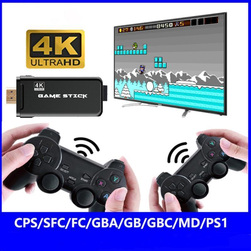 Retro con 2,4G Gamepad wireless Gamepads 10000+ giochi Stick 4K HD Family TV per PS1 / SNES / SFC Controller Joysticks Game