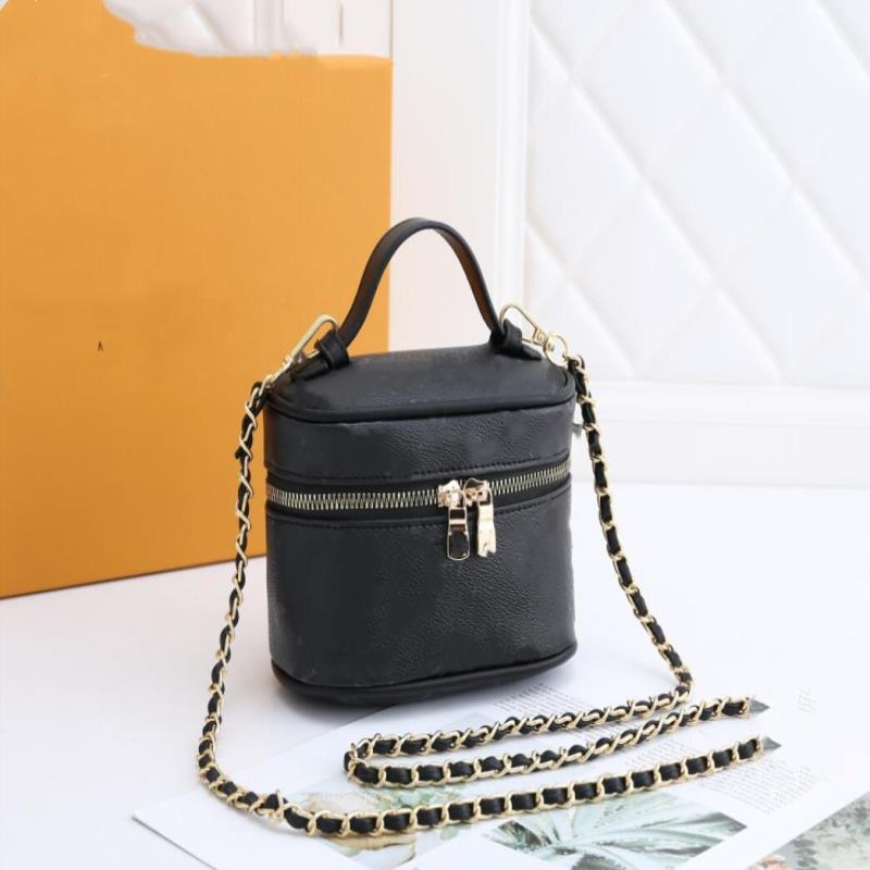 Designer Crossbody Eimer Taschen Geldbörsen 2021 Umhängetasche Runde Mode Womens Handtaschen Braun Luxurys LJFII