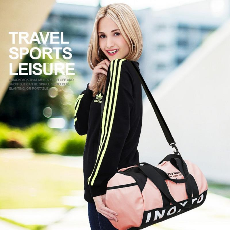 Color Fashion Contrast Gym Bags,Women's Bag For Yoga Fitness Outdoor Sprorts Leisure Shoulder Travel Handbag Bags