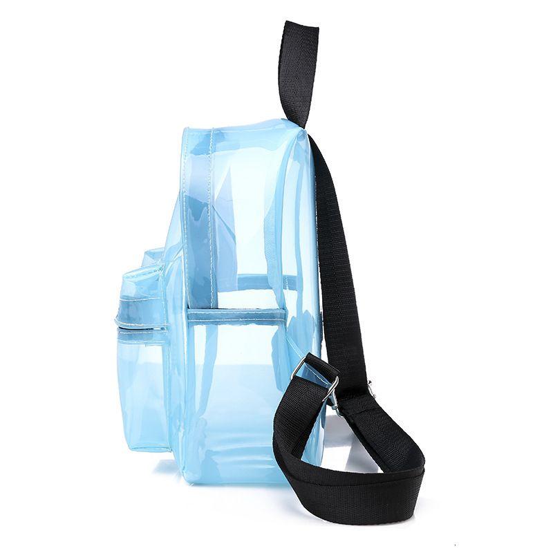 Escuela Bagstransparent Schoolbag Large Capacity Jelly BAPA Hombres y respetuosos ambientales para mujeres y mujeres