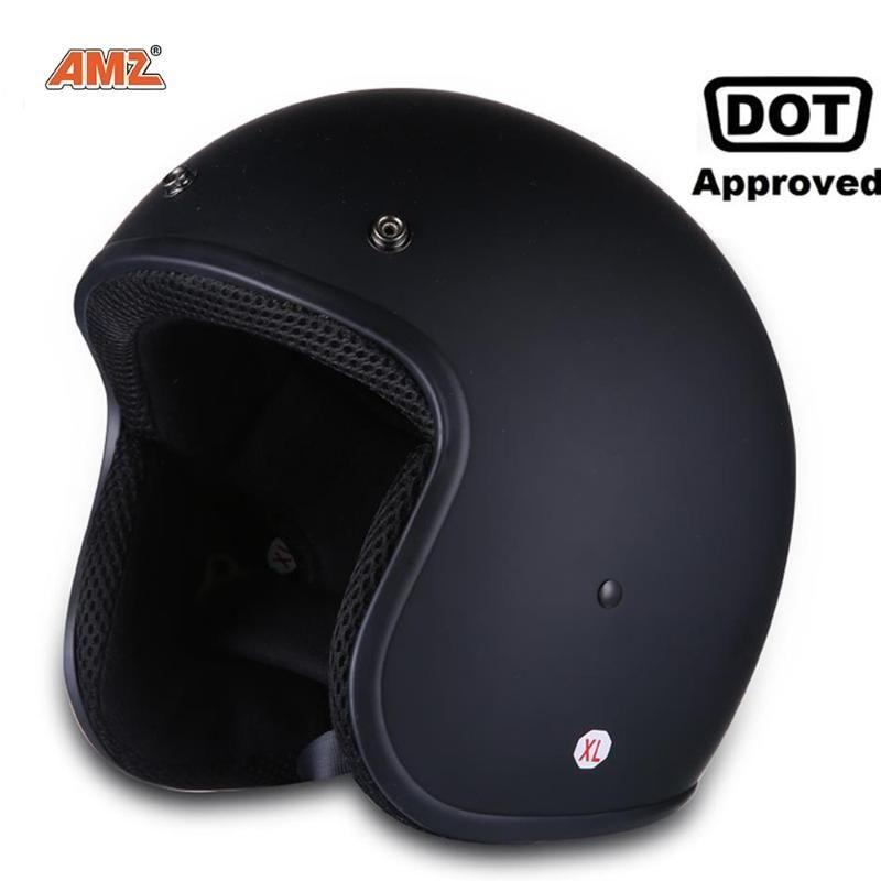 Motorradhelme Vintage Helm für Männer Frauen Klassische Retro Open Face Design Leichte Dot Zertifizierte Motorradkreuzer