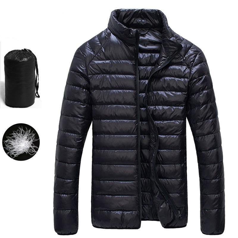 Jaquetas dos homens 2021 outono inverno branco Duck Downs Jaqueta Homens Ultralight Portátil Parka Casaco Casual Slim Warm Resort Outwear 5xl 6XL