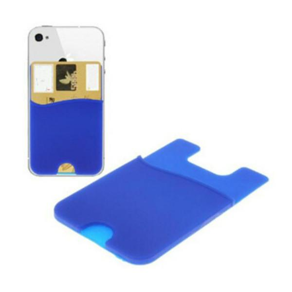 Party Favor Phone Card Holder Silicone Wallet Case Credit ID Cards Holders Pocket Stick On 3M Adhesive with OPP bag RRD6669