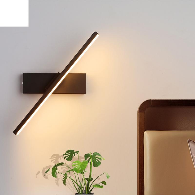 벽 조명 성격 침실 침대 옆 램프 북유럽 현대 미니멀리스트 크리 에이 티브 계단 통로 거실 회전