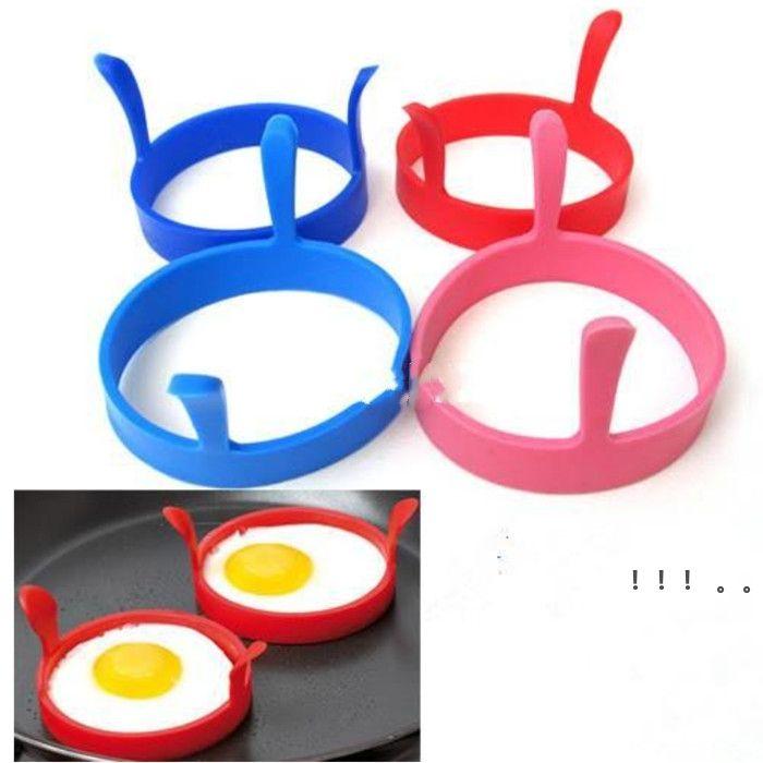 Máquina de fritura de huevo Cocina Silicone Fry Fry Frier Horno Poacher Huevo Poach Panqueque Anillo Huevo Huevo Herramienta EWD6333