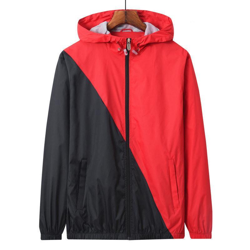 Chaquetas para hombres para hombre mujeres chaquetas buenas quali100% algodón manga larga cremallera ocasional delgado Tamaño asiático regular de color natural del viento SH 1CHA