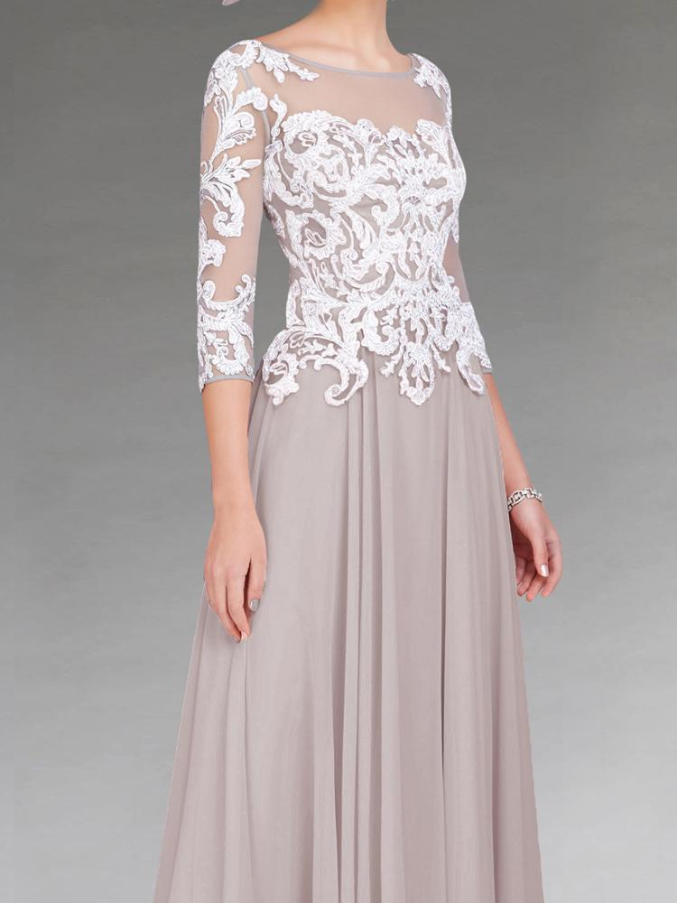 Nouvelle Arrivée Mère de la robe de mariée sur mesure et applique environ 90% identique