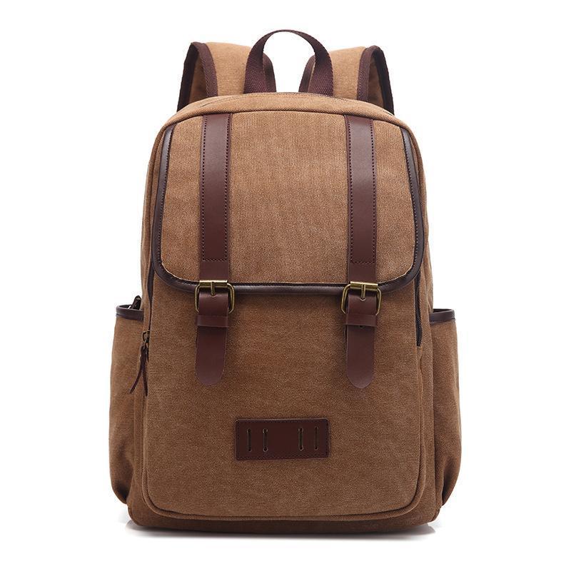Backpack 2021 Women's And Men's Vintage Canvas School Bag Travel Bags Large Capacity Weekend