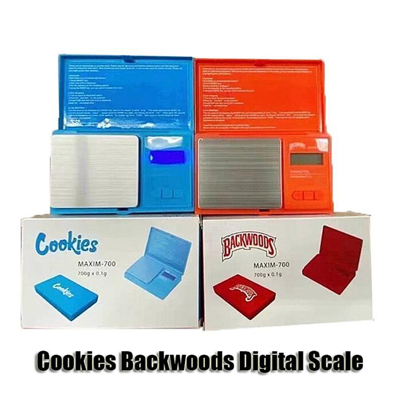 ملفات تعريف الارتباط Backwoods مقياس رقمي أحمر أزرق دقيق 700 جرام 0.1 جرام مجوهرات الذهب التبغ stash الوزن vapes القياس جهاز قياس نمط كيت