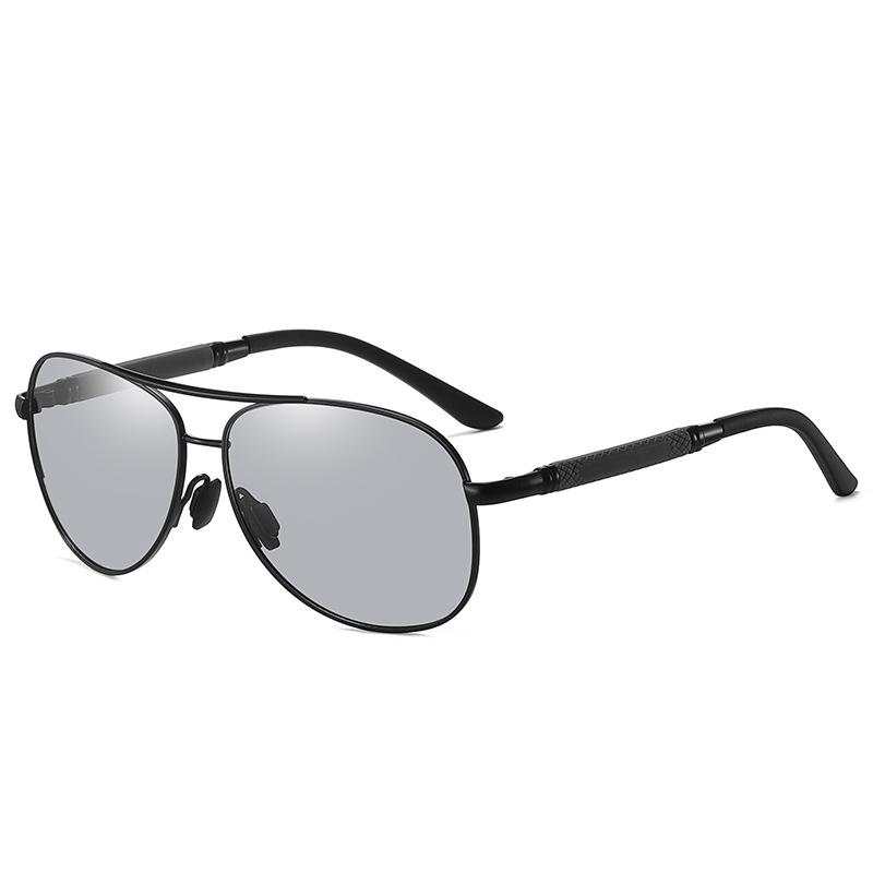 New 2021 Metal Polarized Discolored Sunglasses Mens and Womens Sunglasses Aviator Glasses driving eyes anti ultraviolet strong light trendy