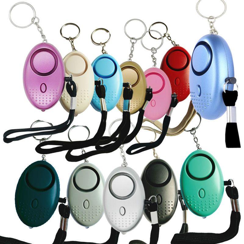 130 DB Güvenli Ses Kişisel Alarm Anahtarlık LED Işıkları Ile Ev Kendini Savunma Elektronik Cihaz Kadın Kızlar için