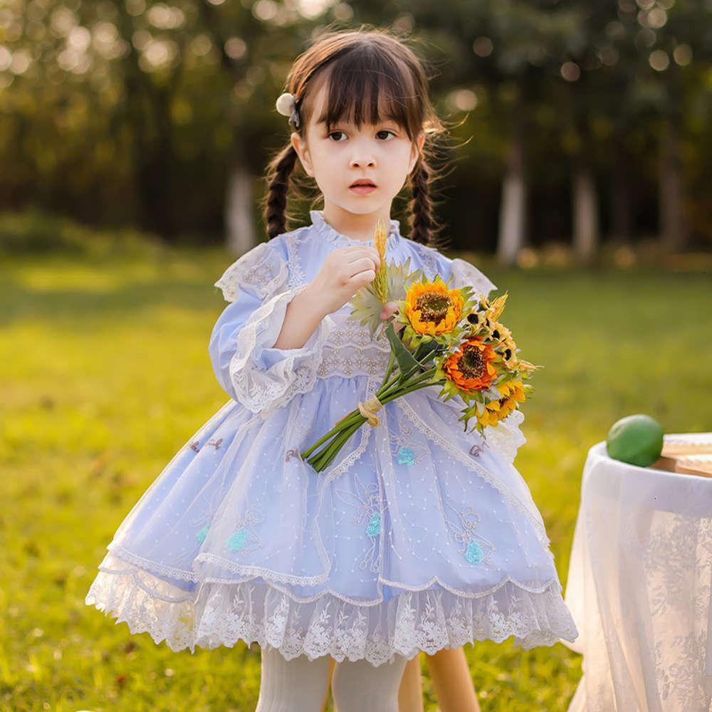Robes de filles Chariots physiquesParcs 2021 MH Spring Girl's Dentelle Lolita Poncho Drs
