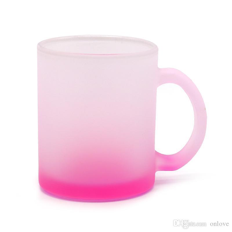 Ublimation فارغة كأس القدح 11oz شخصية القهوة البيرة الأسنان تنظيف بالفرشاة بلوري زجاجة ماء مع مقبض كبير XHH21-403