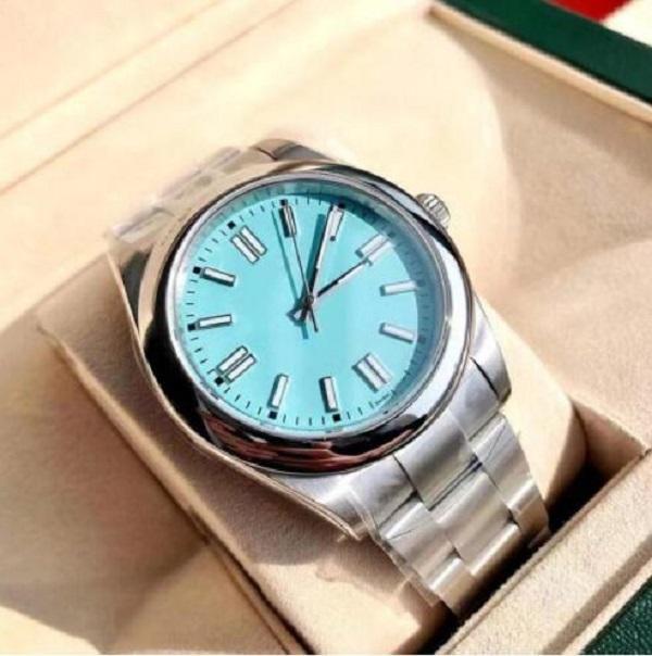 2021 Montre de Luxe Mens 자동 기계 시계 41mm 스테인레스 스틸 슈퍼 빛나는 손목 시계 남성 방수