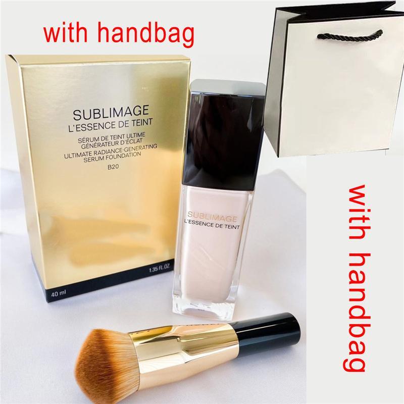 브랜드 Sublimage L 'Essence de Teint Serum Foundation BR12 BD01 2 색 에센스 플러시 + 핸드백