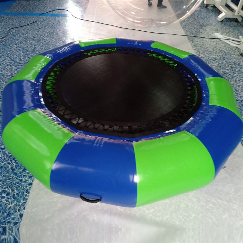 Customized 2.5m Diameter Inflatable Water Trampoline Bounce Platform Swim Game Fun Bouncers Equipment with pump For China