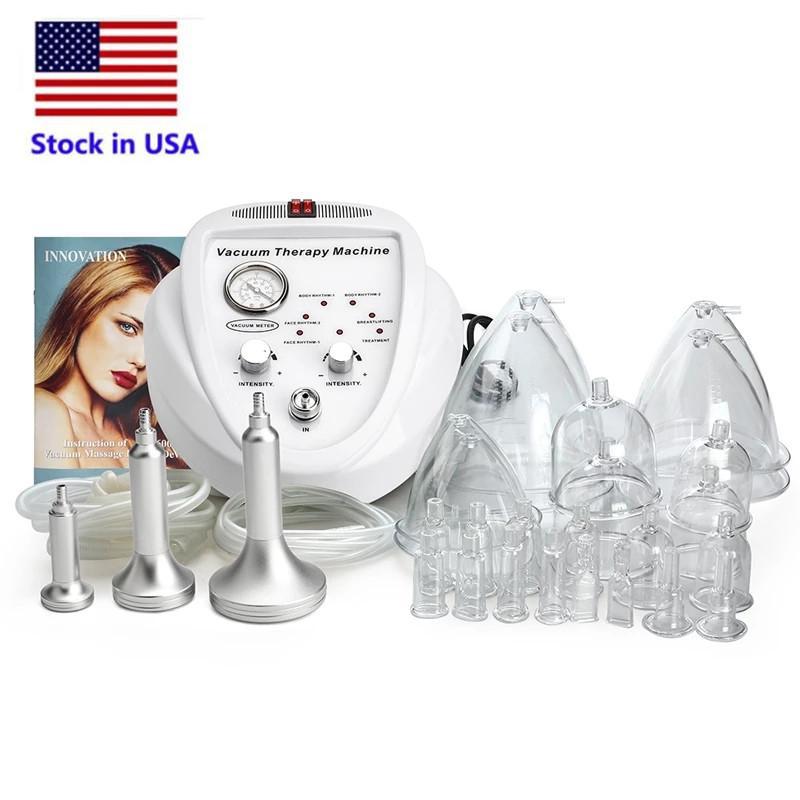 Estoque em EUA Massagem de Vácuo Massagem Máquina de Ampliação Bomba de Ampliação Levantando Massager Massager Massager Cup Drenagem Linfa