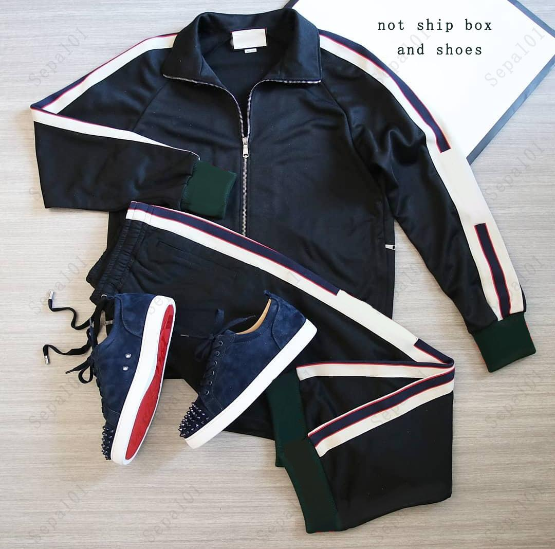 Mens Casual Tracksuit Fashion Letter Pattern Sweatsuit Uomo Abiti da uomo Abiti classici Uomo Due pezzi Pantaloni Giacca da spunta