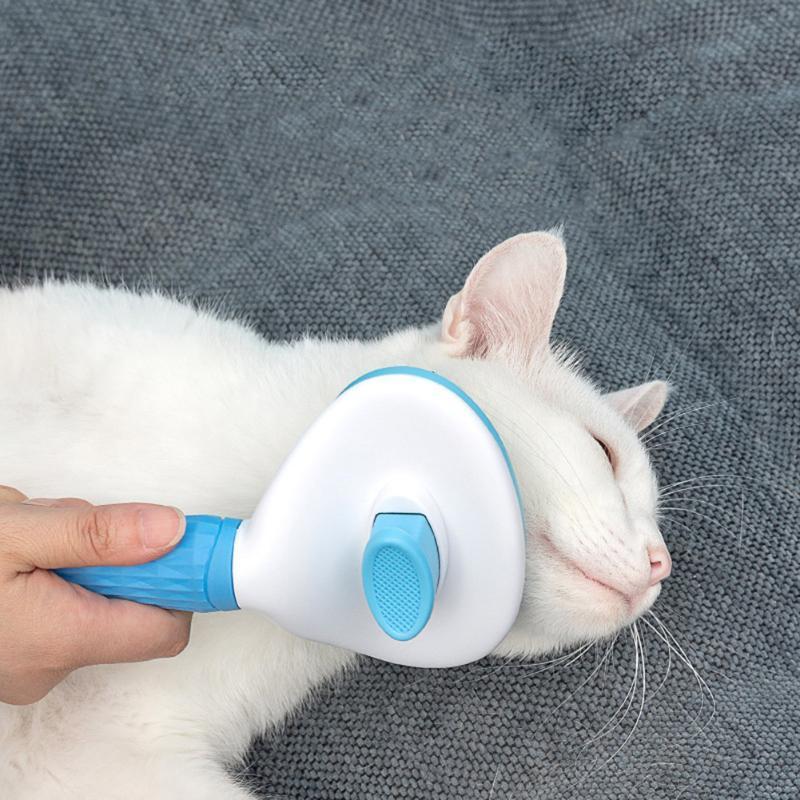 PET PIRBS Dog Cat Gato Remoción de pelo Aceite Peine Productos Perrito Planeamiento Puñeado Piel Limpieza Shedding Cepillo Trimmer