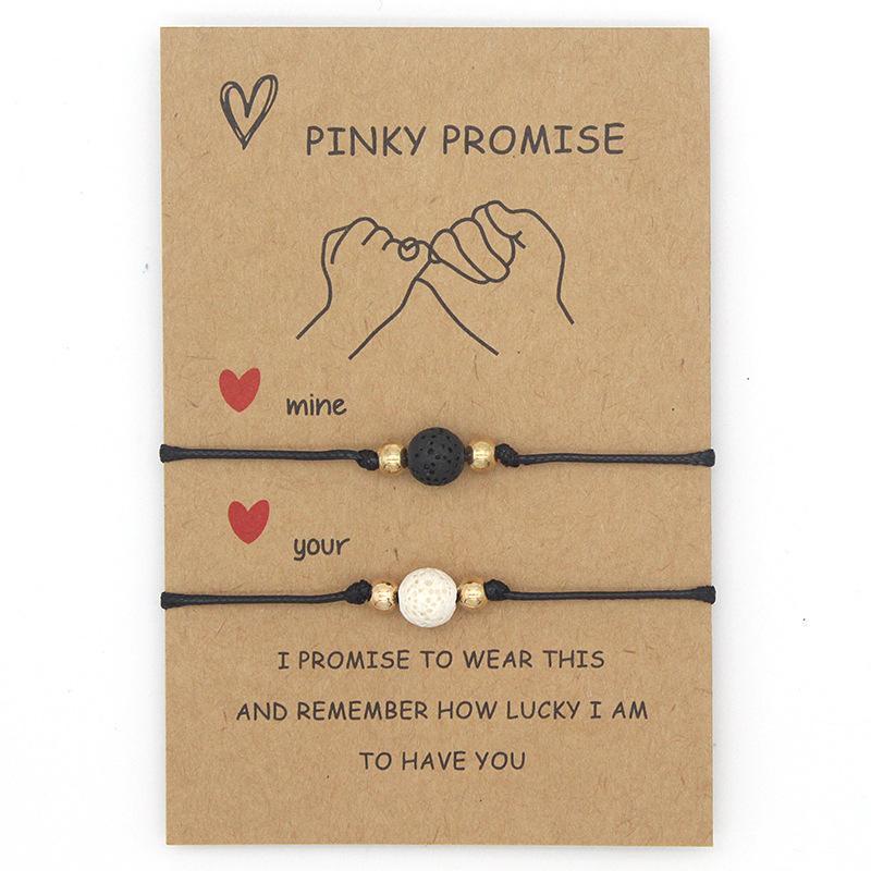 Теннис мизинец обещают браслет вулканические пары сопоставляющие дистанционные отношения браслеты подарки для девочек-подростков мальчиков