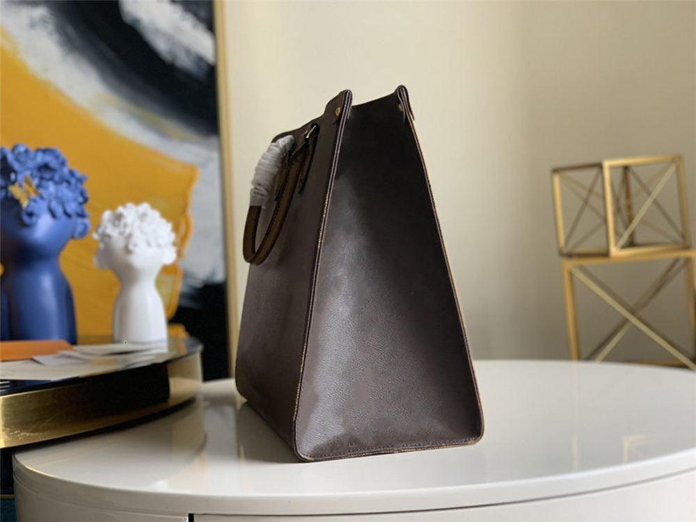 2021 Moda di alta qualità Lady Brown Shopping Bag Banco di lusso 3a Classico in pelle di marca Canvas di grande capacità