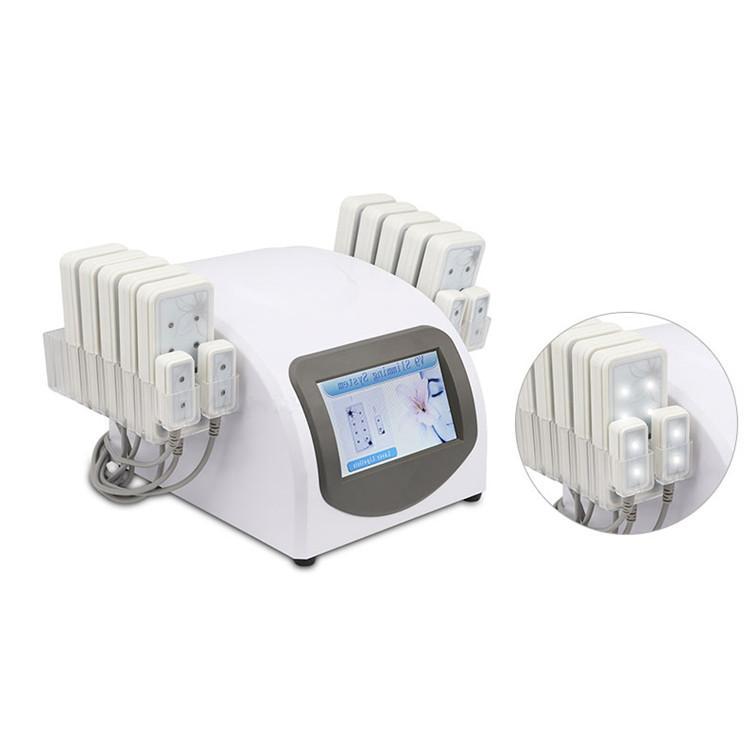 عالية الجودة المحمولة المنزل الدهون للشفافات المهنية آلة التخسيس 5 ميجا واط 635NM-650NM 10 LandsPads 4 Smallpad Lipo ليزر معدات الجمال جهاز لفقدان الوزن
