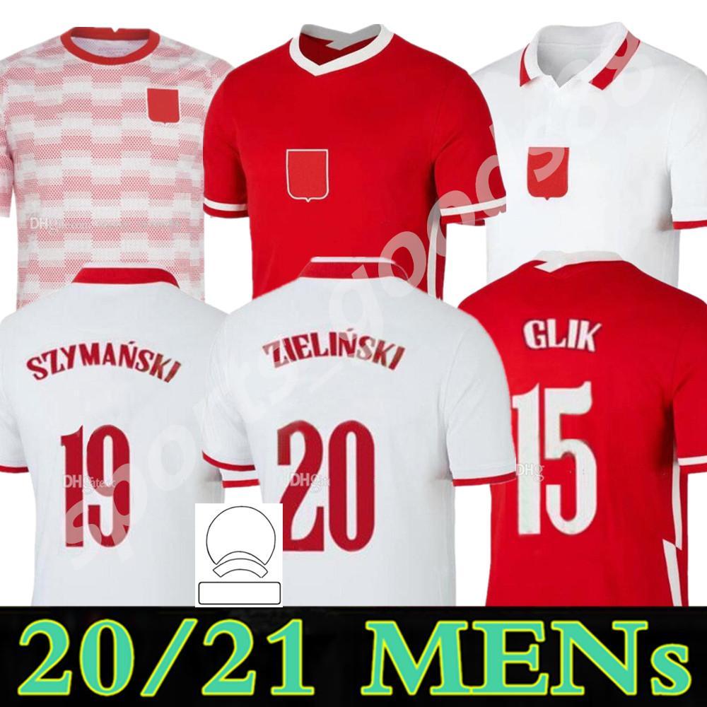 2021 2022 Polska Soccer Jersey Home 20 21 22 Branco Vermelho 2021-22 Milik Po Lewandowski Piszczek Land Jerseys Futebol Pré-jogo Camisas Fardos