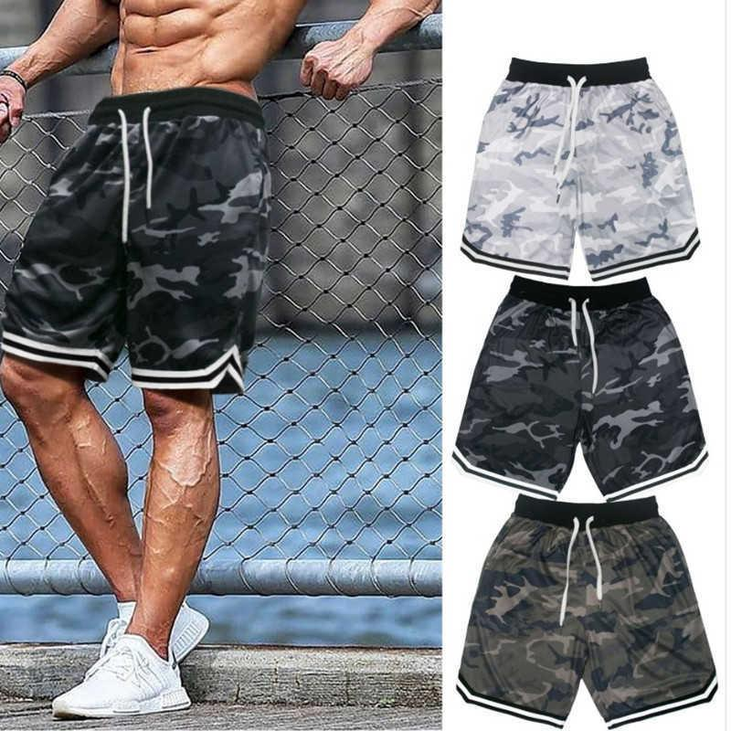 New Men Casual Cool Short Pants Men Gyms Fitness Bodybuilding Loose Shorts Male Jogger Workout Quickdry Summer Breechcloth WZFJM X0601
