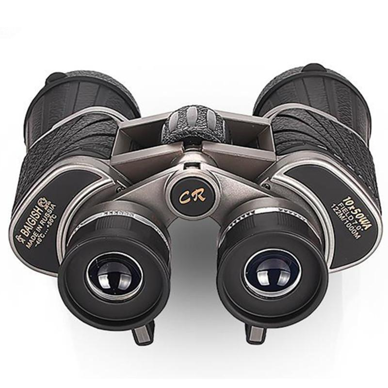망원경 10x50 높은 전력 쌍안경 BAK4 큰 객관적인 렌즈 줌 HD 전문 사냥 도구 망원경