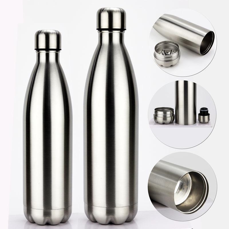 Organisateur de pilule de cachette d'eau de la bouteille d'eau de bouteille d'eau en acier inoxydable peut protéger la tache de tumle en métal pour l'argent bonus 210331